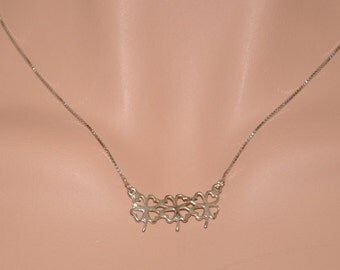 Sterling Silver Necklace, Sterling Silver Flowers Necklace