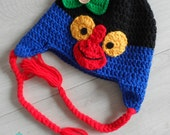 Crochet Pukeko Hat - Made to order - Kiwiana - Photo prop, gift, or unique accessory - MeysMadeCoolCrochet