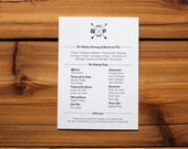 Custom listing for Adrienne- Printable Modern Minimalist Wedding Ceremony Card, Wedding program, wedding order of service - Customize!