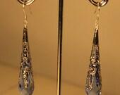 Swarovski Crystal Sterling Silver Filigree Teardrop Earrings - Lauren