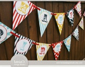 Circus Vintage Printable Birthday Party Package by tania's design studio