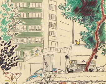 Travel Sketch: Cihangir, Istanbul