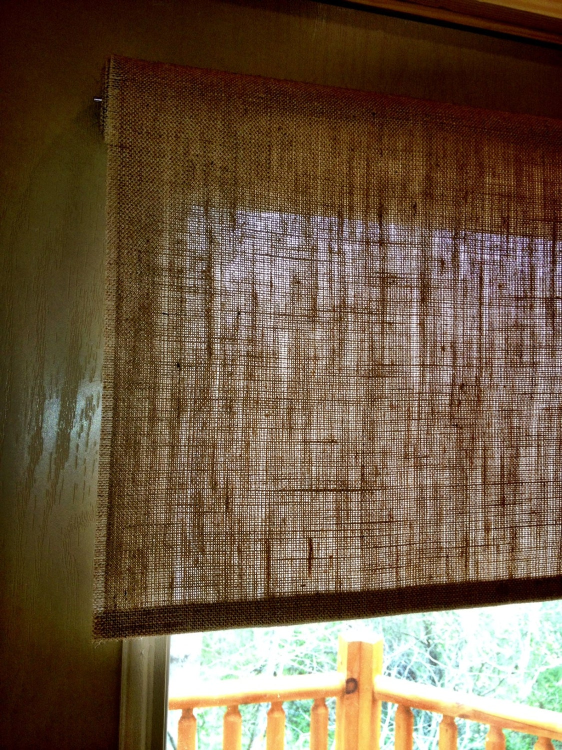 Burlap Roller Shade Tight Weave Custom Sizing Available