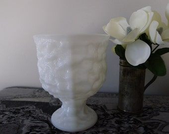 Milk glass EO Brody compote