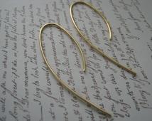 Wishbone Hoop, Sterling Silver Earrings, Hipster Silver Hoops, Hoop Earrings, Sterling Silver Hoop, Gold hoops, Gold Wishbone