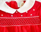 Vintage 4T red velvet long sleeve bubble outfit. Alison Scott for Spencerville in excellent condition.Super sweet for your little valentine.