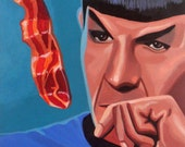 "star trek fascinating 8""x10"" original acrylic painting"