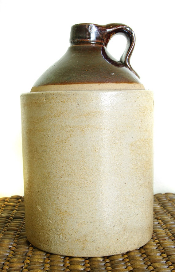 Antique Stoneware Whiskey Or Moonshine Jug