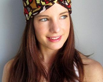 Multicolor Headband, Fall Color Headband, Boho Turband, Pretty Headband, Yoga Headband, Hippie Headband, Beach Headband, Bohemian Turban