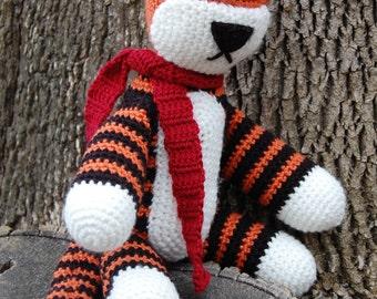 Hobbsy the Tiger - Hobbes Inspired Crocheted Plushie