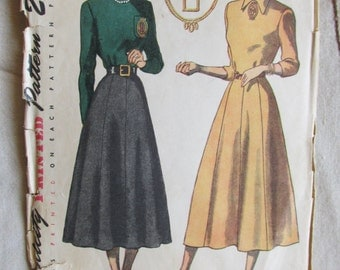 1940s Simplicity dress pattern with monogram transfer