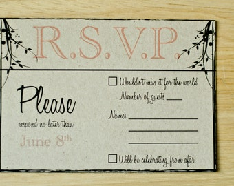 100 Rustic Wedding R.S.V.P.'s