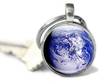 Planet Earth Gifts - Earth Keychain - Planet from Space - Earth Gifts