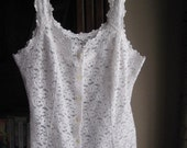 Flower Lace Tank Top by St. Michaels Size Medium or Uk 12