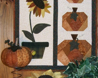 Sunflowers & Pumpkins - Wall Hanging and Pin Cushion Make-Dos Pattern