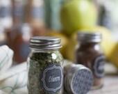 Blank Chalkboard Style Herb & Spice Labels