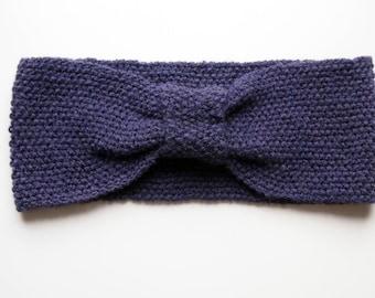 Moss Stitch Bow Turban-style Headband (Knitting Pattern PDF Only)