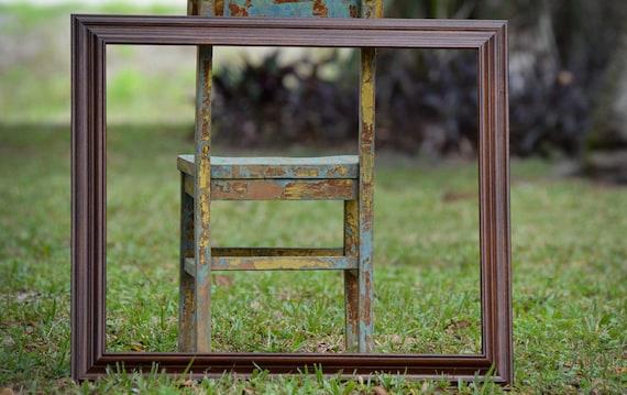 20 x 24 vintage wood frame extra large wood frame 20x24 open back picture
