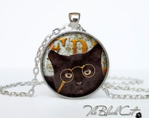 Steampunk cat pendant Steampunk cat necklace Steampunk cat jewelry