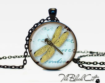 Dragonfly  jewelry Bug necklace the bug pendant bug jewelry vintage style bee jewelry