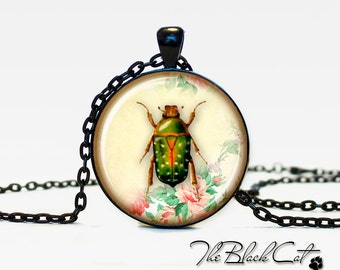 Insect jewelry Bug necklace the bug pendant bug jewelry vintage style bee jewelry