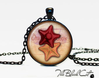 Sea star pendant Sea star jewelry Sea star necklace vintage style Sea life jewelry