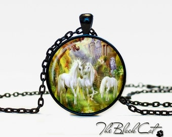 Unicorn pendant Unicorn necklace Unicorn jewelry fantasy style art gift (PU0002)