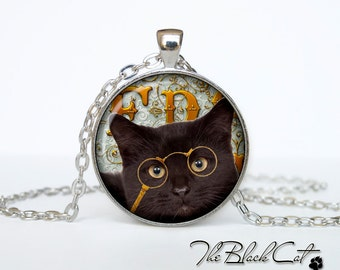 Steampunk cat pendant Steampunk cat necklace Steampunk cat jewelry