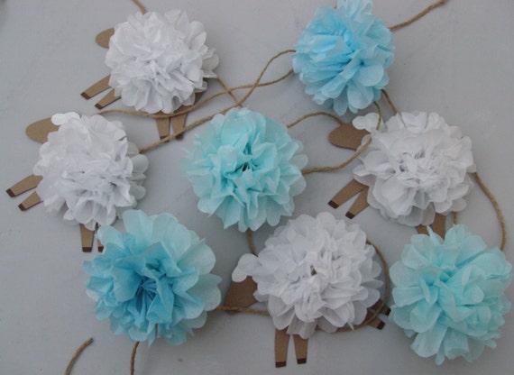 baby shower baby nursery decor tissue paper pom pom garland sheep