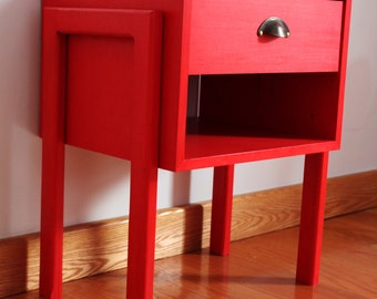 mid century bedside table.custom made retro 50s danish style available in many colours and all dimensions