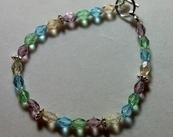 Rainbow Pastel Crystal Bracelet