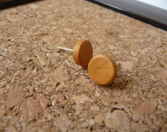 Polymer Clay Gold Post Earrings