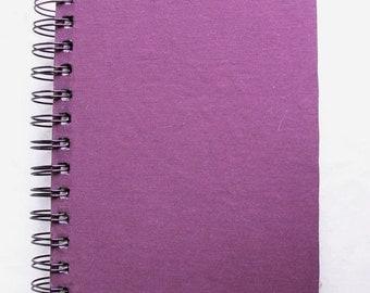 Solid Deep Purple Fabric Notebook
