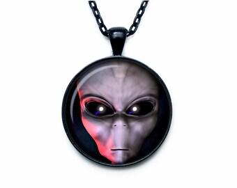 ALIEN PENDANT alien necklace alien jewelry  galaxy pendant galaxy necklace galaxy jewelry  universe