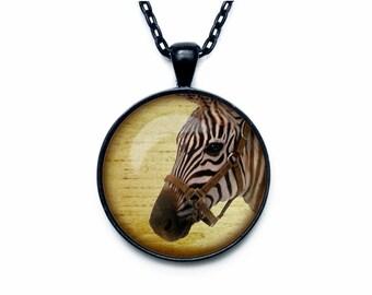 Zebra Pendant  Zebra necklace  Zebra jewelry