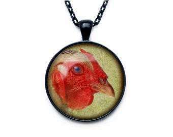Hen Pendant  Chicken necklace  Chicken jewelry