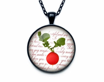 Radish necklace Radish necklace pendant Radish jewelry fruit necklace