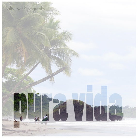 Pura vida typographic printable costa rica photography beach for Pura vida pdf