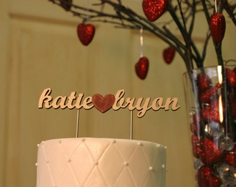 Wood Name Cake Topper