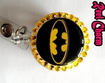 Batman retractable badge reel.