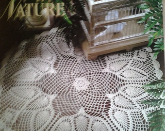 Touched By Nature  Leisure Arts Discontinued crochet patterns featuring Doves in Flight