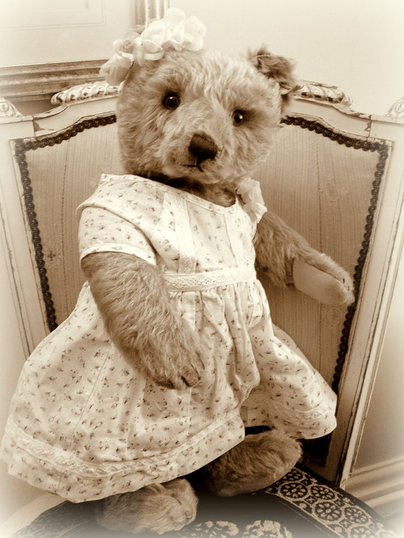 Vintage Steiff Original Teddy Bear 1950s Rosie Pink Caramel