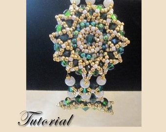 PDF for Emerald Crystal Button Bracelet Modified Right-Angle Weave Bracelet - beadweaving beaded seed bead jewelry beading pattern tutorial