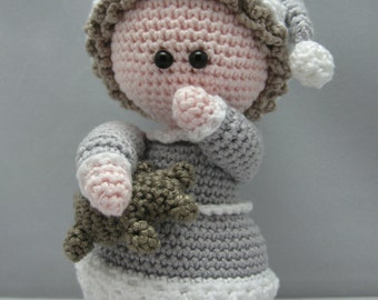 Sleepy Head (Instant download Amigurumi doll crochet pattern pdf)