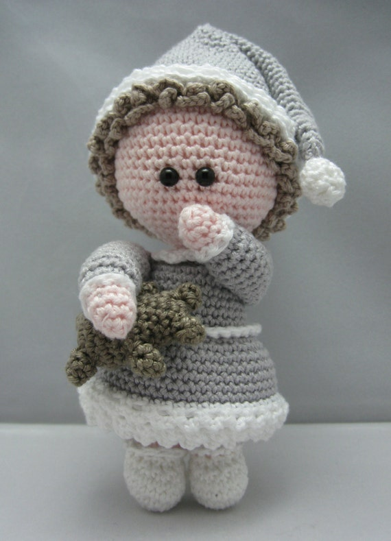 Crochet Amigurumi Head : Sleepy Head Instant download Amigurumi doll crochet pattern