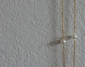 RESERVED- Long Gold Necklace with Pearl Beads- 18 inches
