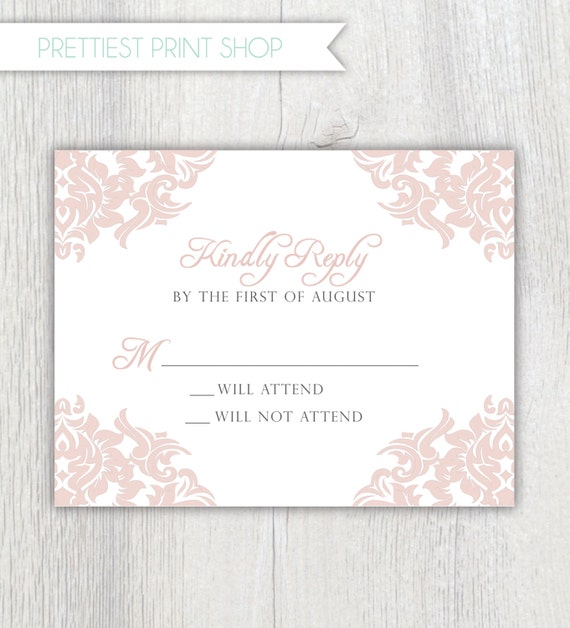 Wedding Invite Enclosures: Printable Wedding Invitation Enclosure Card RSVP