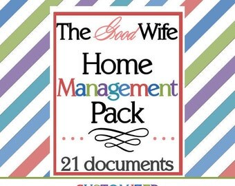The Good Wife Home Management Pack (21 documents) CUSTOMIZED