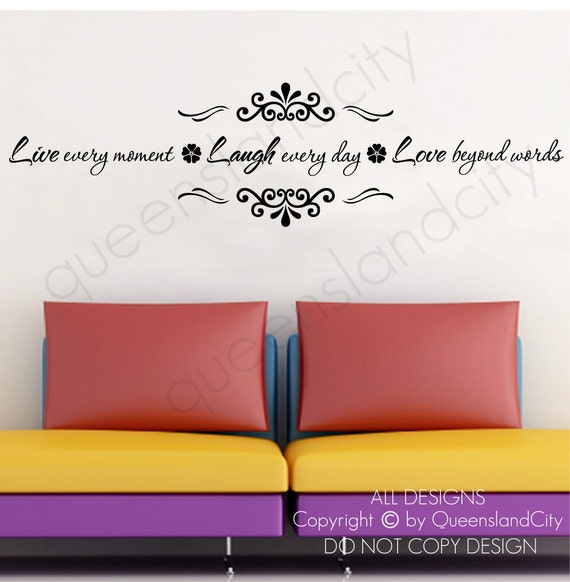 Beyond Words Customizable Wall Decor Kohls : Live every moment laugh day love beyond words life