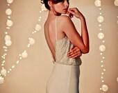 Glamorous open back  mermaid wedding gown